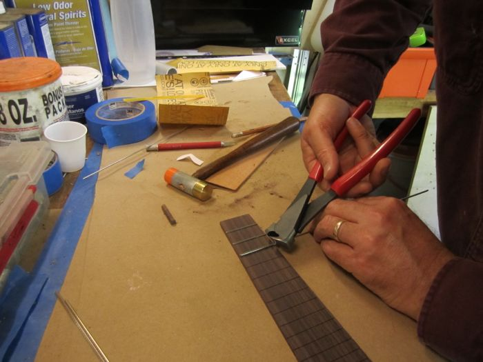 Setting the frets